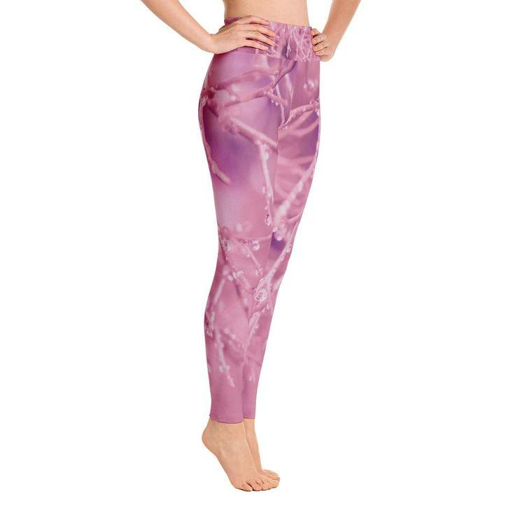 Bright Pink Mist Yoga Leggings