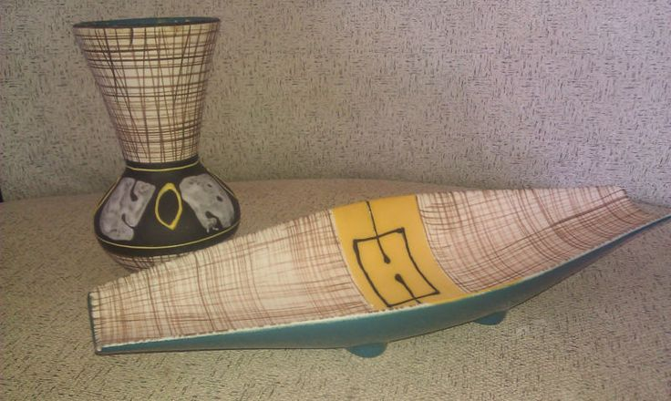 MID Century Australian Pottery Vase AND Bowl | eBay