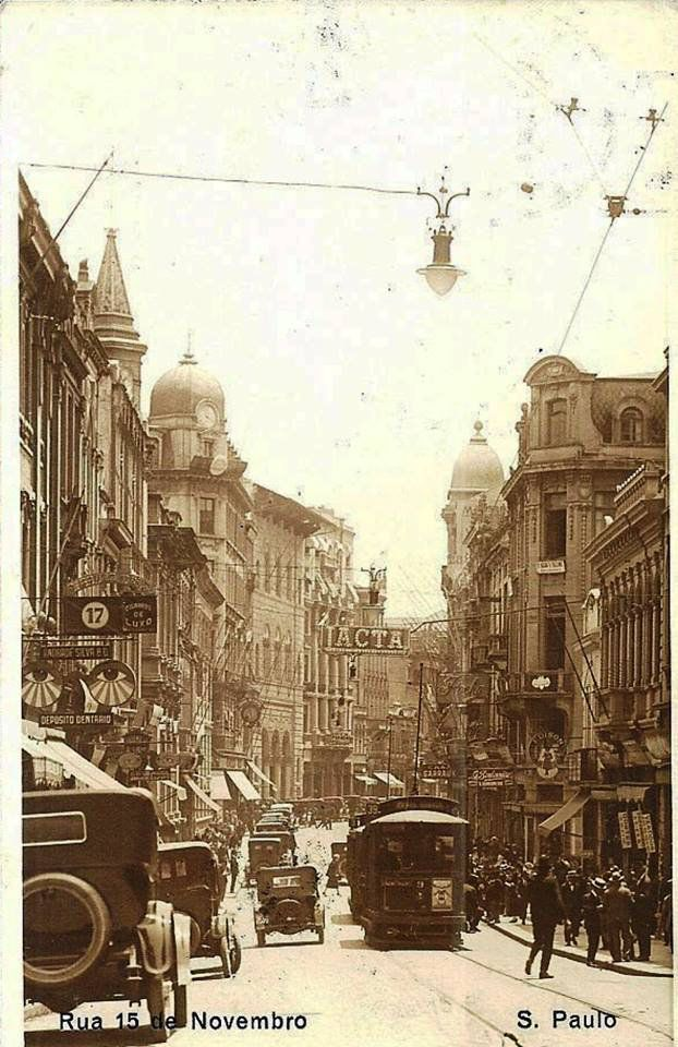 Década de 1920 - Rua XV de Novembro, Centro - São Paulo