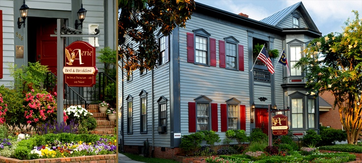 The Aerie Bed & Breakfast is in North Carolinas first capital city of New Bern.  Where spent our wedding night ;-)