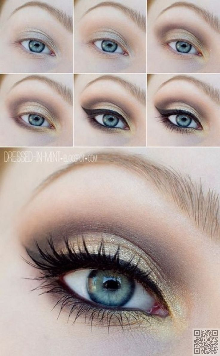 3. #Accent with Gold or Copper - 7 #Makeup #Tricks to Make Your Blue Eyes Pop ... → Makeup #Pencil