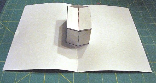 How to make pop ups, Lesson 19, Closed Top Box. Tutorial series on how to make pop up cards.