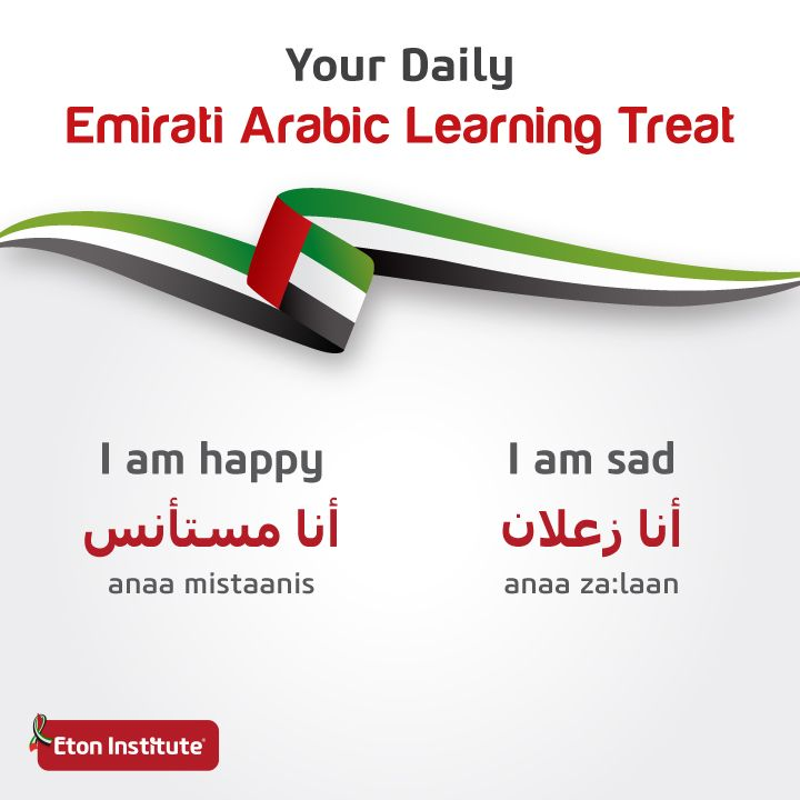Happy?  Sad?  Express yourself in Emirati Arabic by learning these treats!