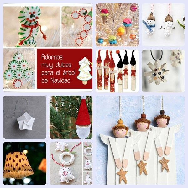 10 adornos caseros para el rbol de navidad spanish the - Adornos navidenos caseros para ninos ...