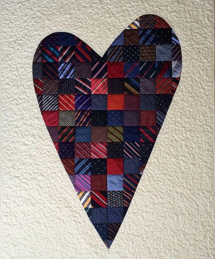 Necktie heart quilt by Andrea Kollath   Quiltmanufaktur (Germany) . . . . . der Blog für den Gentleman - www.thegentlemanclub.de/blog