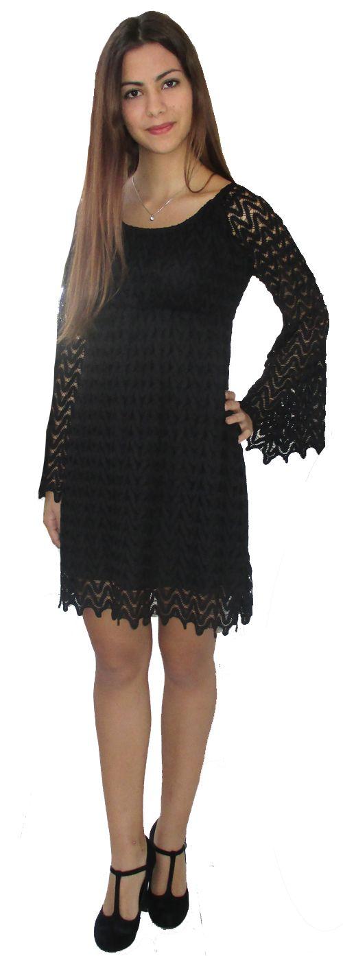 Φόρεμα δαντέλα HYPER, σε μαύρο, μπλε σκούρο και εκρού. 34.99E Διαθέσιμο στο e shop:http://www.hypercollection.gr/el/165--.html