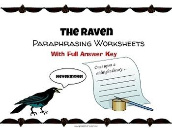 the raven paraphrasing lesson worksheets word search and allusions the o 39 jays the raven. Black Bedroom Furniture Sets. Home Design Ideas