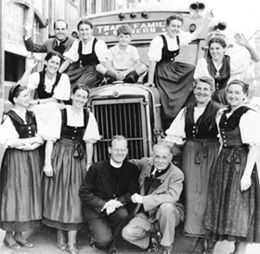 The von Trapp family runs a mountain resort in Vermont!  I could totally see Mom dragging POP there!