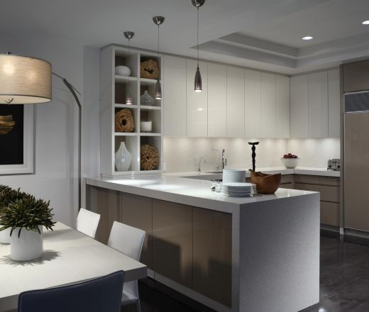 Modern L-shaped kitchen, cabinets, $50,000 - $100,000, Miami
