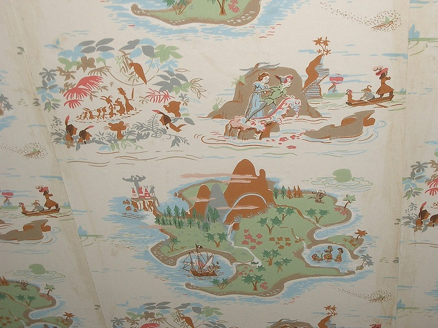 Vintage Peter Pan wallpaper