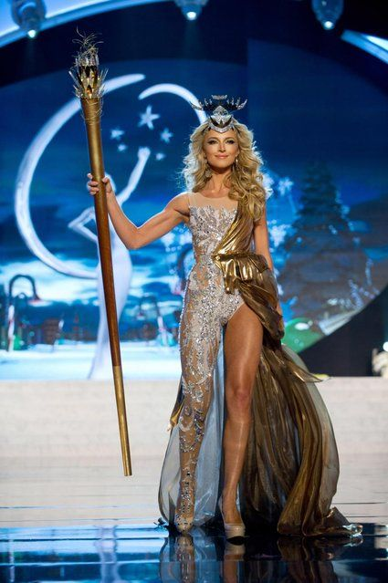 Miss South Africa 2012, Melinda Bam, performs onstage at the 2012 Miss Universe National Costume Show on Friday, December 14, 2012 at PH Live in Las Vegas, Nevada. The 89 Miss Universe Contestants will compete for the Diamond Nexus Crown on December 19, 2012. (Photo by AP Photo/Miss Universe Organization L.P., LLLP) http://avaxnews.me/appealing/Miss_Universe_National_Costume_Show_2012.html