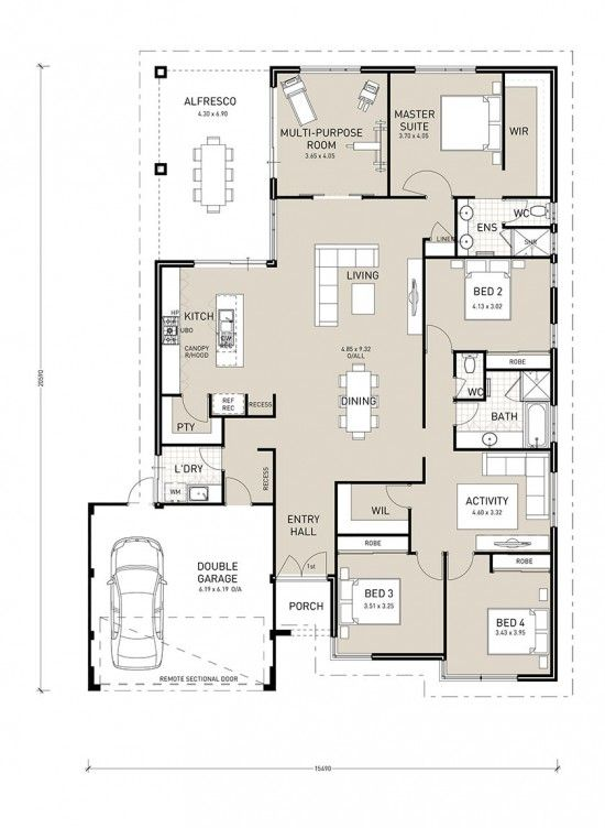 The Aurora by Perth builder Switch Homes, is a large block home design which exudes luxury with an island kitchen bench, walk in pantry, double door entry and walk in linen.