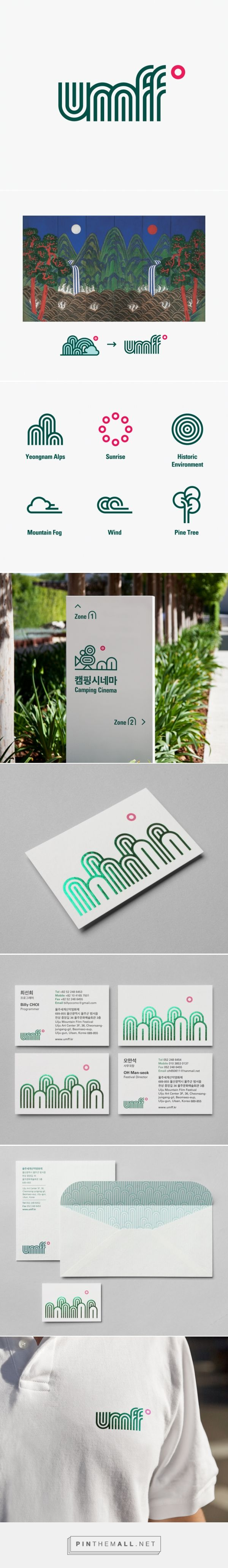 identity for Ulju Mountain Film Festival - studio fnt - created via http://pinthemall.net