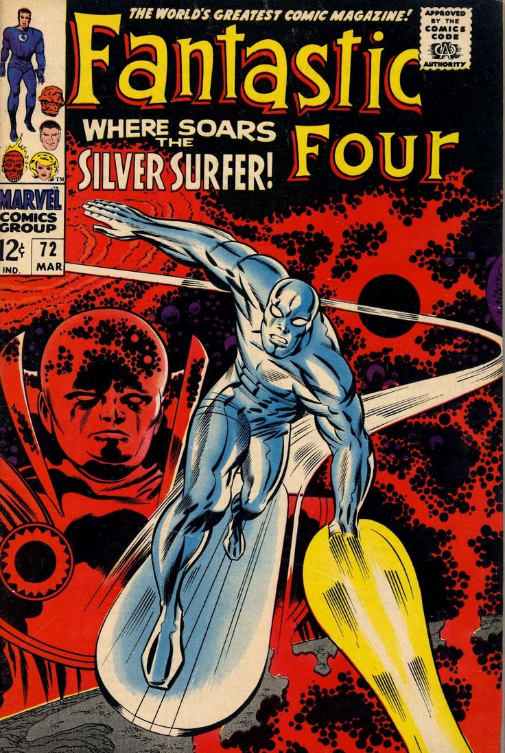 Classic Jack Kirby Fantastic Four 72 cover featuring the Surfer. Think this was re-used here in the UK with new background as the cover to Super Heroes 1 (late 70's/early 80's)