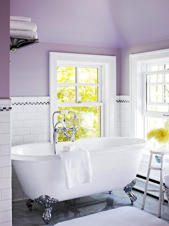 Pale purple thrives in natural light with clean white at the palette's core: http://www.bhg.com/decorating/color/paint/purple-paint-colors/?socsrc=bhgpin032114freshandclean&page=9