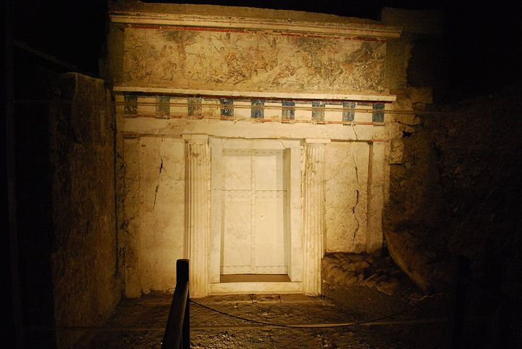 Facade of Philip II tomb Vergina Greece.jpg