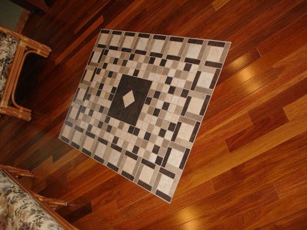 tile / wood floor combination   For the Home   Pinterest ...