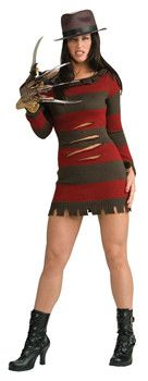Sexy Female Freddy Krueger Costume