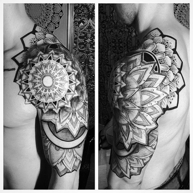 #mandala#shoulder#tattoo#arm