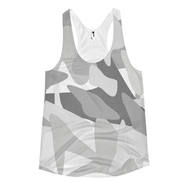 Anna's Camo Racerback Tank in Winter