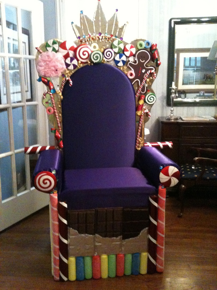 The candy king's throne. Church Christmas program