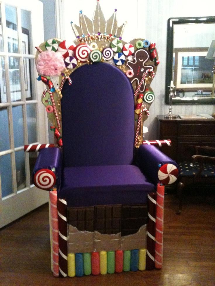 The candy king's throne.  Church Christmas program
