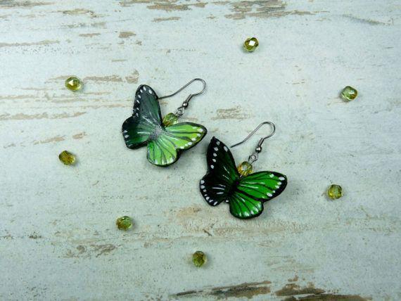 Butterfly earrings polymer clay earrings by KAMELEONjewelryART