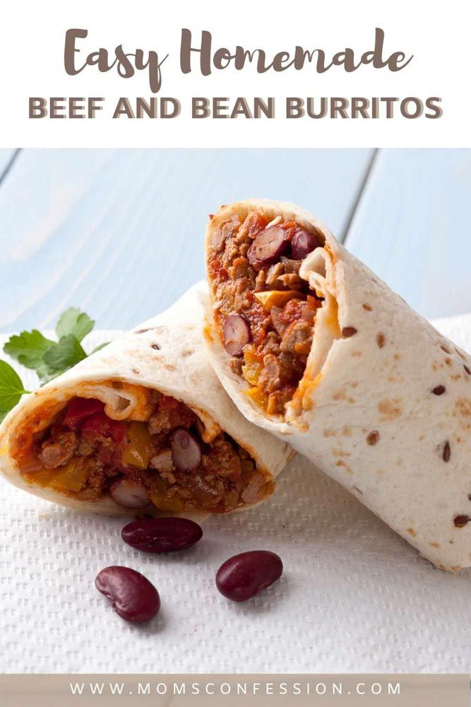 Mexican Beef And Bean Burritos A Classic Recipe Idea For Burrito Lovers Recipe Burritos Recipe Recipes Homemade Beef