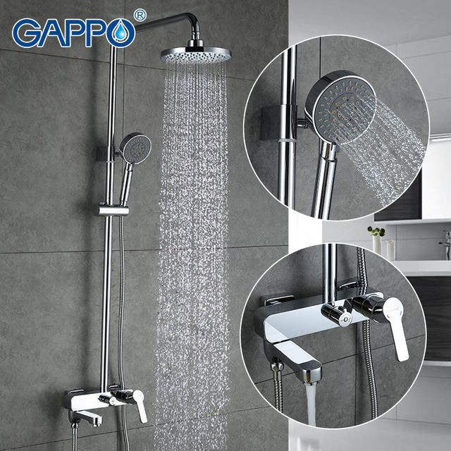 Gappo 1set Bathroom Fixture Sets Faucets Set Bath Shower Tap Bathroom Shower Set Bathtub Faucet Waterfall Rain Shower Head G2402 Chec Shower Faucets