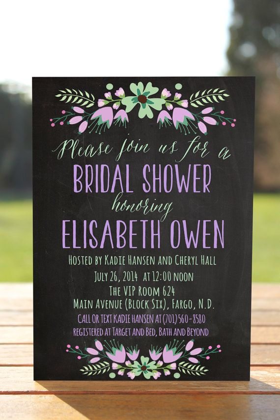 Thanks for visiting OnlyPrintableArts! This listing is for the beautiful PRINTABLE bridal shower invitation in purple colors is completely