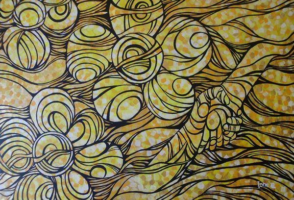 Keramahan Budaya Melayu, acrylic on canvas, 60 x 90 cm, 2012, By Kurniawan