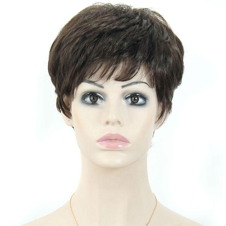 Cheap Synthetic Wig Short Hair Cut Female Heat Resistant Kanekalon Wig for Women African American Short Wigs for Black Women