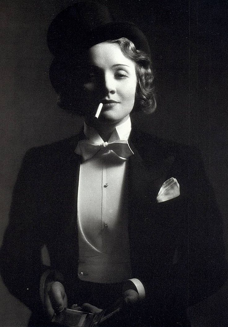""" I am at heart a gentleman."" Marlene Dietrich"