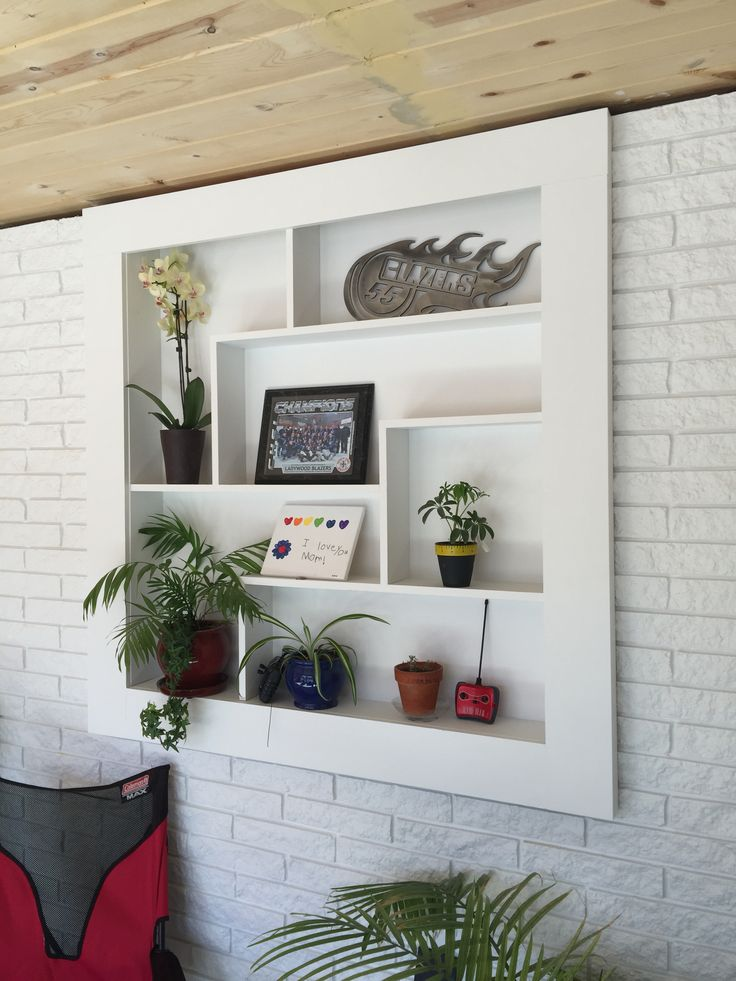 Tetris Shelf In Sunroom Addition Filled In Where Old