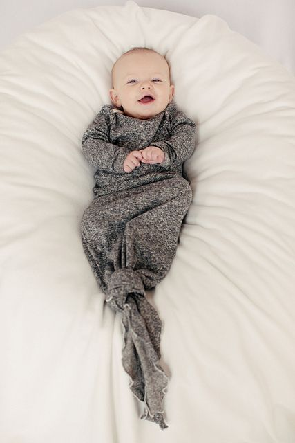 knotted organic onesie.  That's just adorable, with room to grow! :)