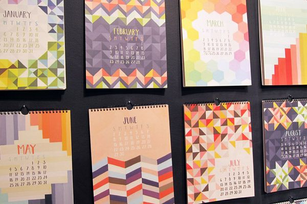 Calendars // One Canoe Two - 2013 National Stationery Show