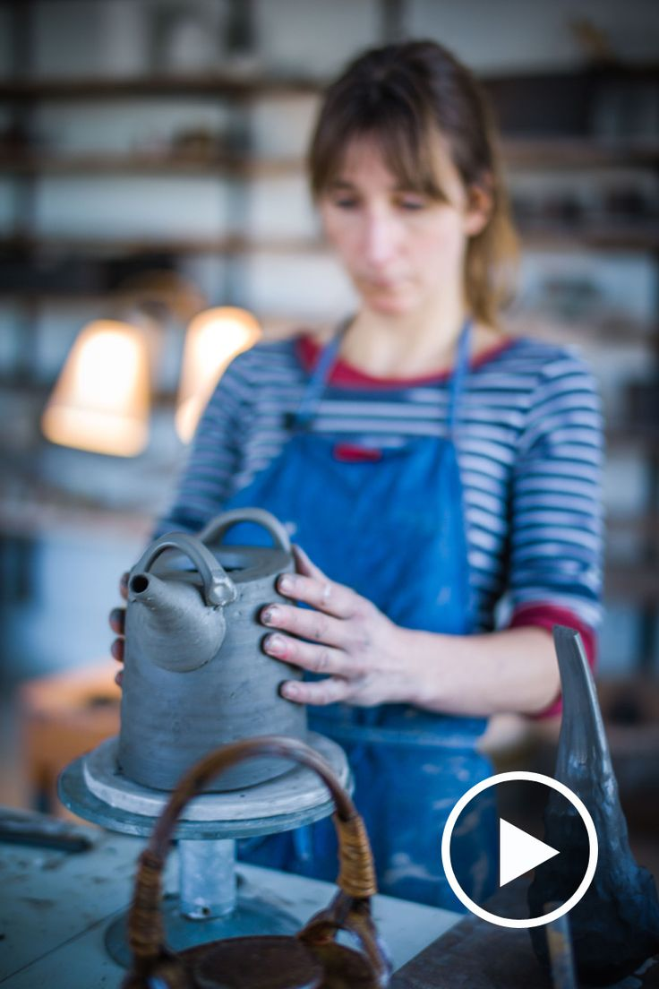 In this short film Danish potter Anne Mette Hjortshøj talks about how she makes her oval teapots. Watch to learn more about her work here.