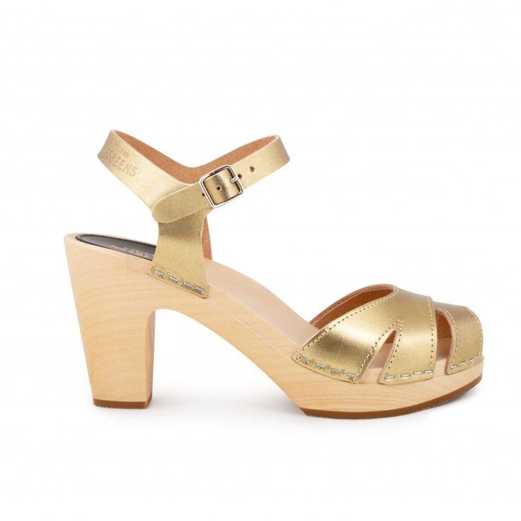EnvyLondon - Sandali donna , oro (Gold), 37 1/3
