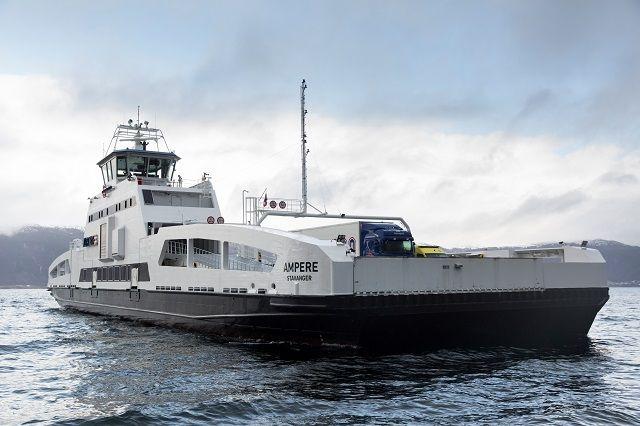 Varato in Norvegia Ampère, il primo traghetto completamente elettrico.