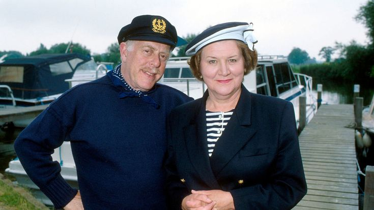 """Clive Swift as Richard and Patricia Routledge as Hyacinth Bucket starred in """"Keeping up Appearances."""""""