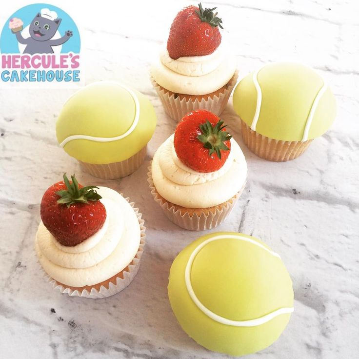 A lovely range of cupcakes perfect for a Wimbledon party.