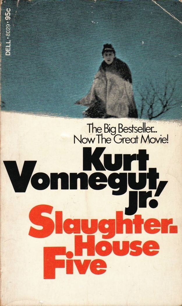 Slaughterhouse-Five by Kurt Vonnegut. It incorporates time travel and porn stars. Enough said.