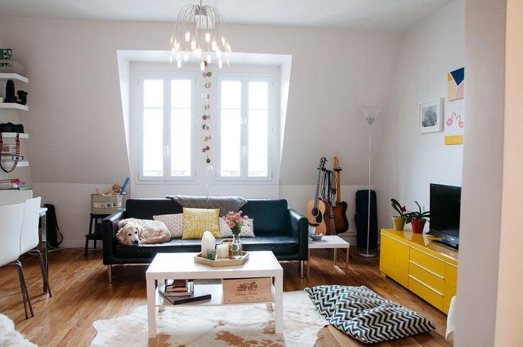A Dreamy, Bright Top Floor Paris Apartment