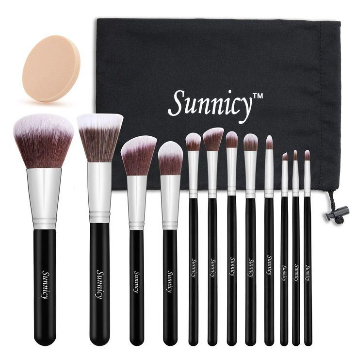 12 Stück Makeup Bürsten Kosmetik Pinsel Schminkenpinsel Foundation Eyeliner Lidschatten groß puderpinsel Makeup Pinselset Kabuki Mischen erröten Kabuki: Amazon.de: Beauty