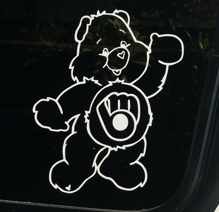 Best Care Bears Decal Images On Pinterest Baseball Care Bears - Custom vinyl decals milwaukee