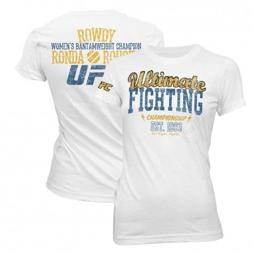 UFC Womens Ronda Rousey Fight Camp T-Shirt [White] | Women | UFC Store - View All