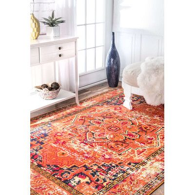 Trilochana Mackenzie Orange Area Rug