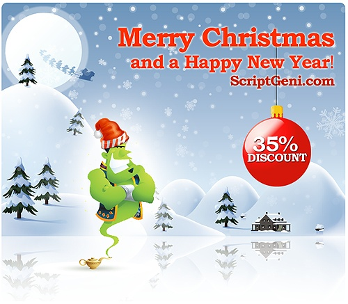 ScriptGeni Special Christmas Offer – PHP Scripts with up to 35% discount