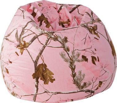 #RealtreePink Camo Bean Bag Chair - Make You Lazy.  #pinkcamo #RealtreeAPC