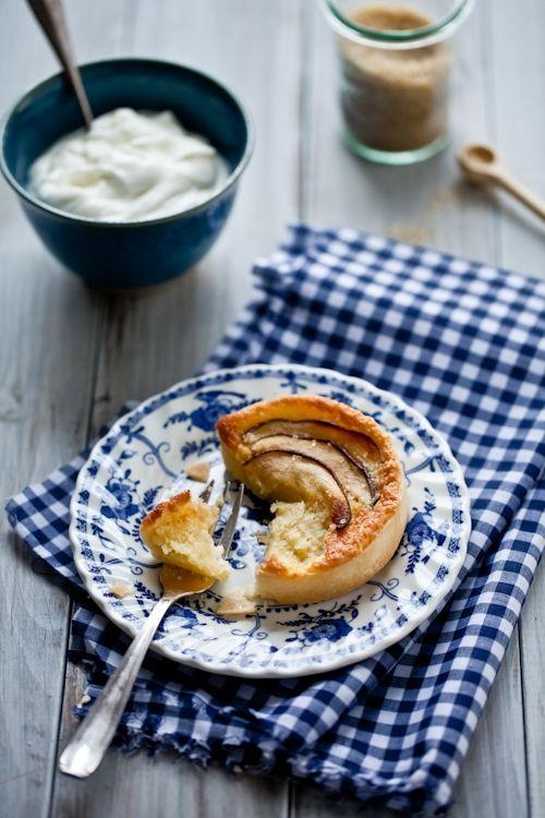 pear & almond frangipane tartelettes